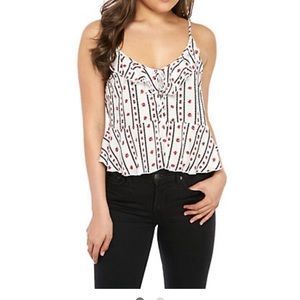 Free People Printed  rayon Cami tank in ivory